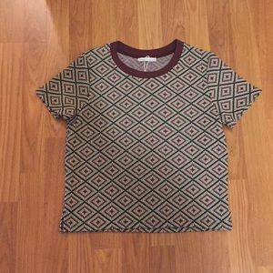 NWT Zara Printed T Shirt-Winter/Fall Collection